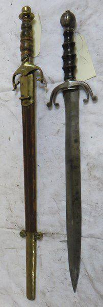 Lot de 2 dagues type Médiéval,dont une avec...