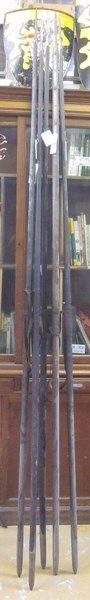 Lot de 5 lances de cavalerie, modèle 1823...