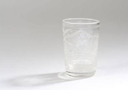 Verre à whisky en cristal gravé des symboles...