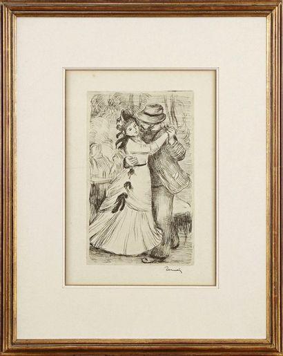 Pierre-Auguste RENOIR (1841-1919) La Danse à la campagne (2e pl.) Vers 1890. Vernis...