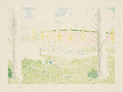 Ker-Xavier ROUSSEL (1867-1944) Paysage avec maison. 1897. Lithographie. 412 x 298....