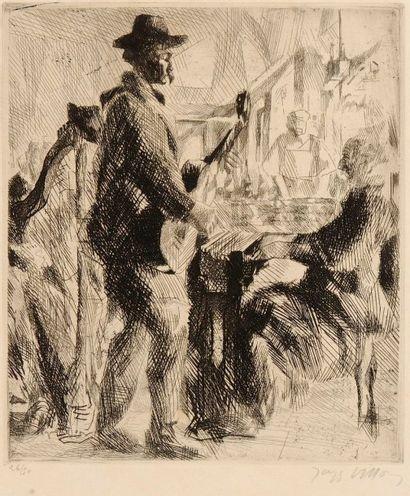 Jacques Villon (Gaston Duchamp, dit) (1875-1963) Musiciens chez le bistrot. 1912....