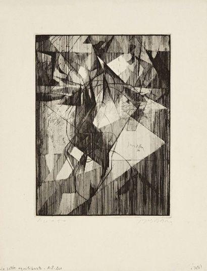 Jacques Villon (Gaston Duchamp, dit) (1875-1963) Le Petit équilibriste. 1914. Pointe...