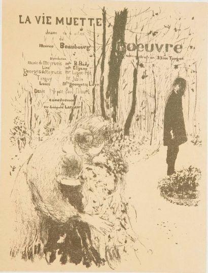 Edouard VUILLARD (1868-1940) La Vie muette. Programme pour le théâtre de l'oeuvre....