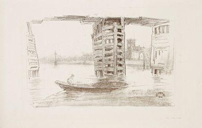 James Abbott McNeill WHISTLER (1834-1903) The Broad Bridge. 1878. Lithographie. 278...