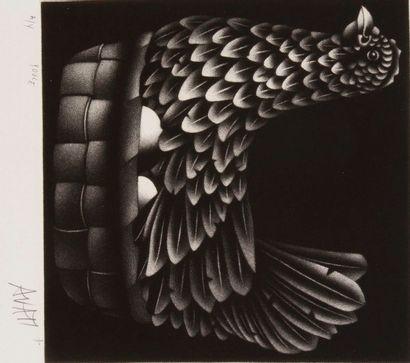 Mario AVATI (1921-2009) Alligator; Armadillo; Criquet; Colombe; Merinos; Poule. 6...