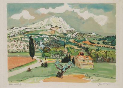 Yves BRAYER (1907-1990) Paysage de Provence Lithographie. Signée et annotée Épreuve...