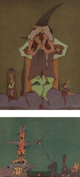 Jorge CAMACHO [cubain] (1934-2011) Composition 5 lithographies. Signées et numérotées...