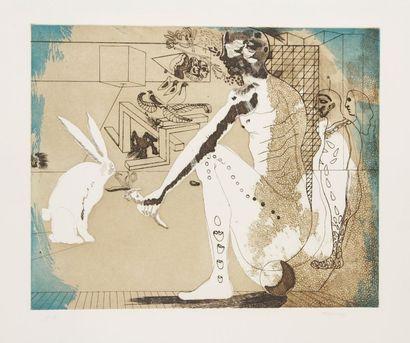 JORGE CASTILLO (né en 1933) Le Lapin, 1973 Eau-forte et aquatinte. Signée, datée...