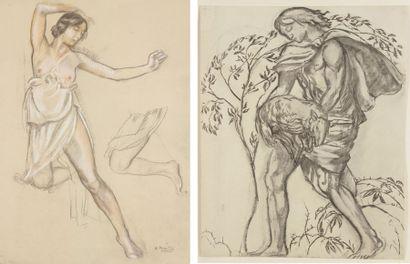 Maurice DENIS (d'après) (1870-1943) Femmes 8 lithographies. Formats divers. Certaines...