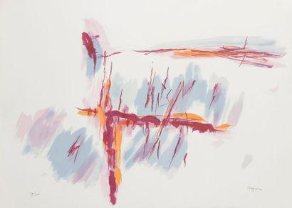 Jean BAZAINE (1904-2001) Composition Lithographie. Signée et numérotée sur 200. 55...