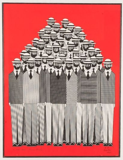 Yannis GAITIS (né en 1923) Composition, 1971...