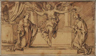 École ITALIENNE du XVIIe siècle,<BR>d'après LE DOMINIQUIN