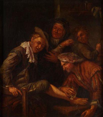 ÉCOLE HOLLANDAISE du XVIIIe siècle, suiveur de Jan STEEN