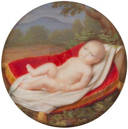 Enfant princier, vu bébé (yeux marron) sur...