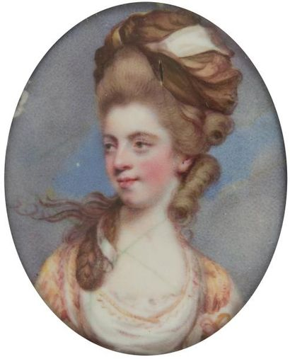 École ANGLAISE, d'après Sir Joshua Reynolds,<BR>vers 1777 - 1780