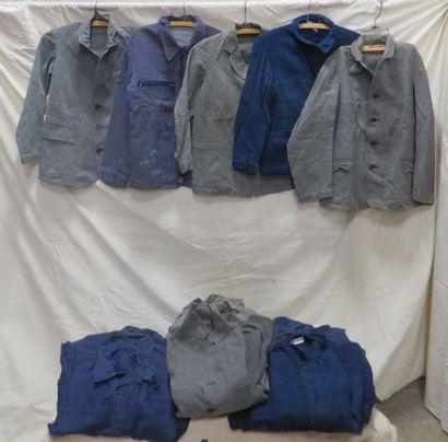 Lot de vestes d'ouvrier, style début XXe....