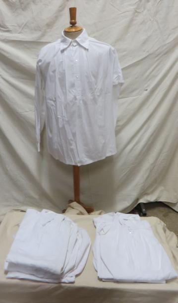 Neuf chemises en coton pour homme, style...