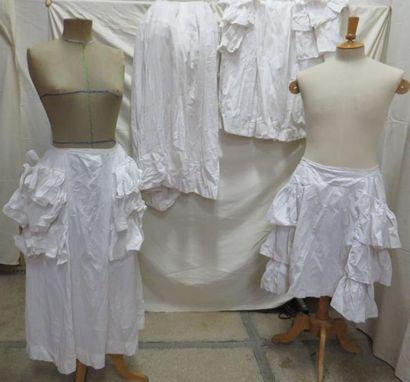 Quatre jupons en coton pour femme, style...
