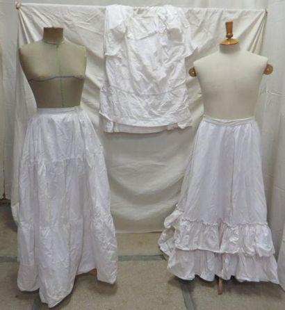 Trois jupons en coton pour femme, style ...