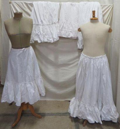 Cinq jupons en coton pour femme, style X...