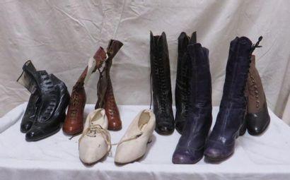 Cinq paires de bottines et une paire de souliers...