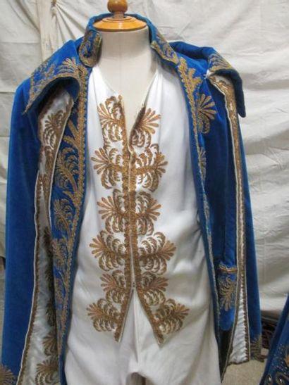 Ensemble habit complet et robe de style Empire richement brodé. Matières: velours...
