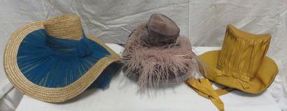 Trois chapeaux pour femme, style XIXe - Les...