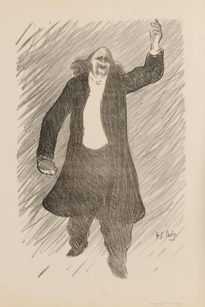 Henri Gabriel IBELS (1867-1936) Marcel Leguay Lithographie. Signée dans la planche....