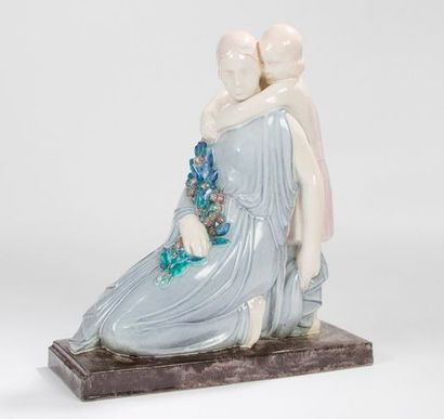 Marcel RENARD (1893-1974) Sculpteur & André FAU (1896-1982) Atelier céramique à Boulogne