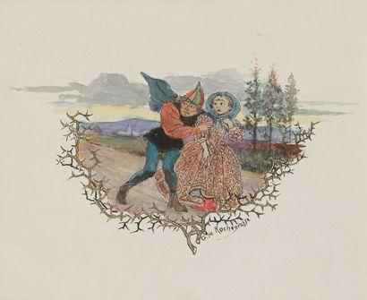 Georges-Antoine ROCHEGROSSE (1859-1938) Illustrations pour Trois contes d'Edgar Poe,...