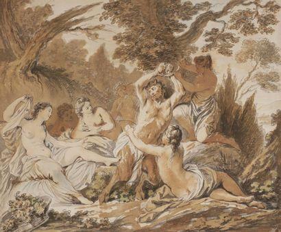 École FRANÇAISE du XVIIIe siècle Nicolas René JOLLAIN (Paris 1732 – 1804) Le supplice...