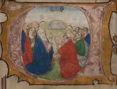 École FRANÇAISE du XVIe siècle Un saint en prière; La Nativité; L'Adoration des Mages;...