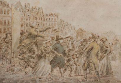 École FRANÇAISE du XVIIIe siècle,<BR>entourage d'Étienne JEAURAT