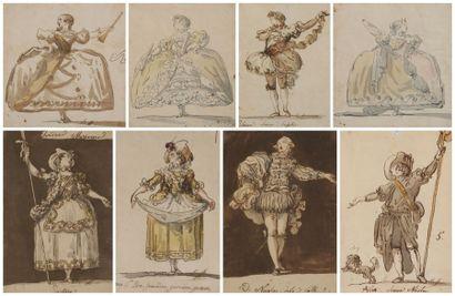 École ESPAGNOLE de la fin du XVIIIe siècle, Entourage de Giuseppe Cades Ensemble...