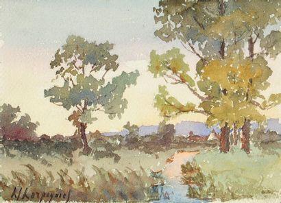 Henri-Joseph HARPIGNIES (1819-1916)