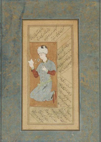 Jeune homme à la lettre, Iran Safavide, fin...