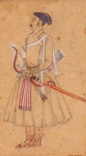 Portrait d'un dignitaire moghol, Inde du...