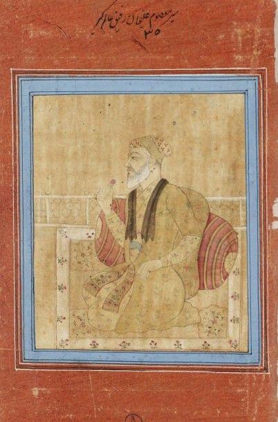 Portrait de Mir M'asoum Ali Khan, Deccan,...