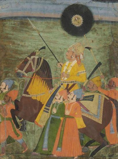 Portrait équestre du Maharaja Abhi singh...