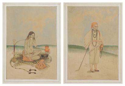Deux derviches indiens, Inde, début XXe siècle...