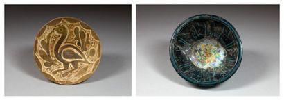 Deux coupes en céramiques, Iran médiéval,...