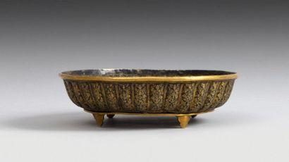 Coupe godronnée, Inde moghole, XIXe siècle...