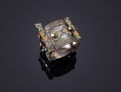 Bracelet de cheville en argent, Maroc, Anti...