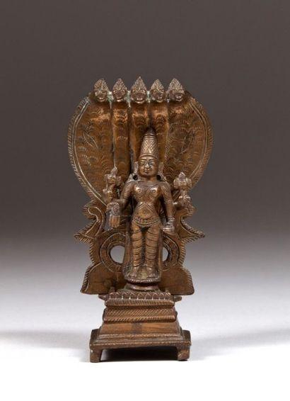 Vishnu en bronze, Inde centrale, fin du XIXe...