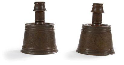 Paire de chandeliers en bronze, Proche -...