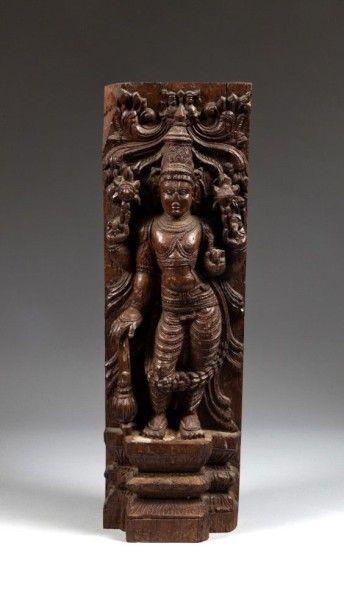 Protomé du dieu Vishnu, Inde du sud, XIXe...