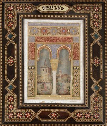 Maquette de façade de l'Alhambra, Espagne,...