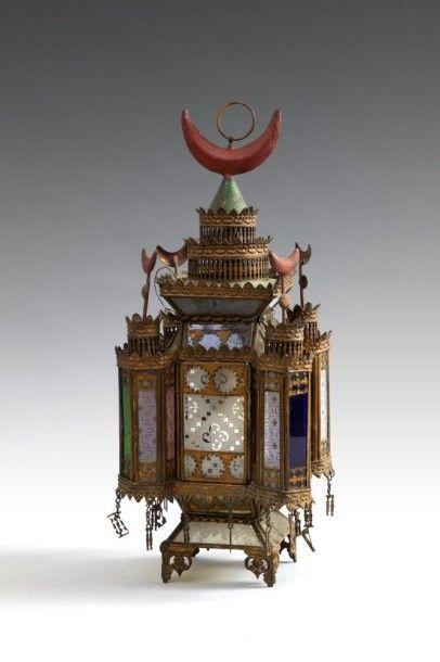 Lanterne en cuivre, Empire ottoman, fin XIXe...