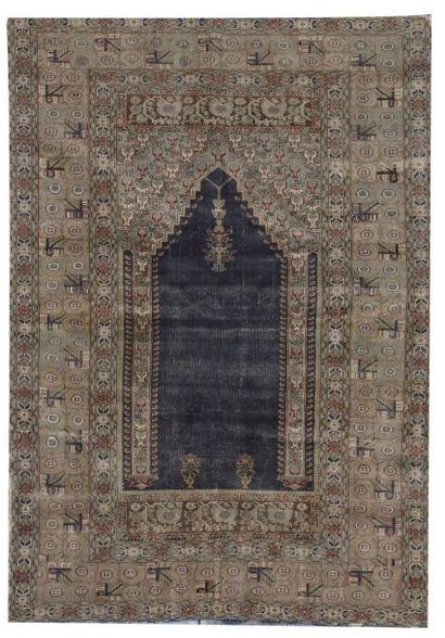 Yordes, tapis à décor de mihrab, Turquie,...